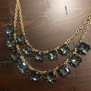 Francesca's gold and grey stone necklace